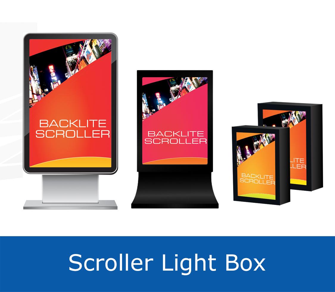 backlit scroller